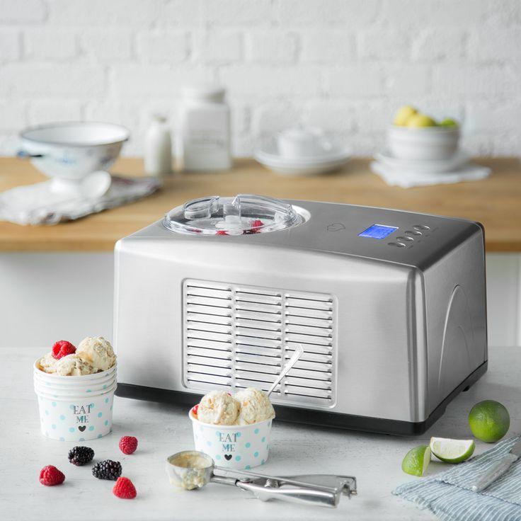 Eismaschine Emma mit Kompressor 1,5 l - Wenn du dein Eis einmal mit Emma selber gemacht hast, wirst du nie wieder ein anderes essen wollen. Denn es ist wirklich überraschend einfach. Und unverschämt cremig. Und das beste: Du allein bestimmst, was drin ist.