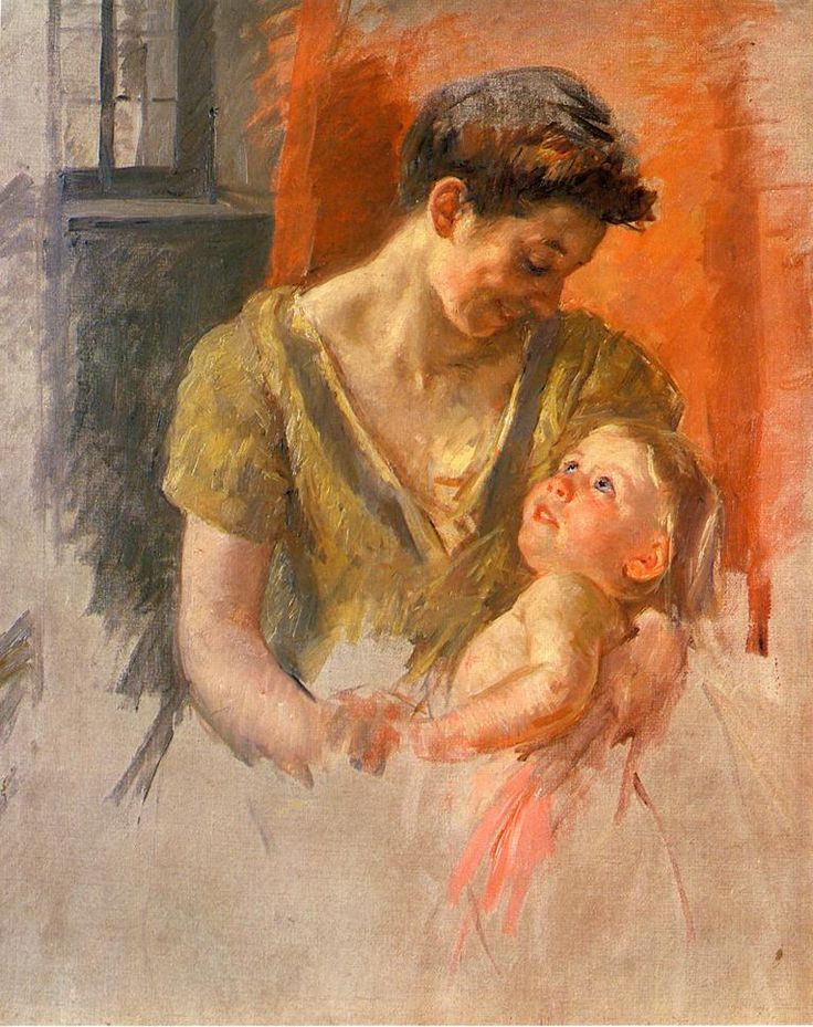 Mary Cassatt: Mother and Child Smiling at Each Other