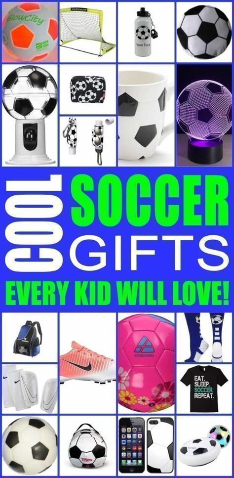 Cool soccer gifts for boys and for girls. Easy soccer gift ideas that kids will love. Best idea for coach, & teammates. These would also make easy and fun end of season gifts. You can also DIY your gift or use this ultimate soccer gift guide to find the perfect present for any soccer player. #teenbirthdaygifts #soccerBoysandGirls #soccerdrills #soccerdrillsforkids