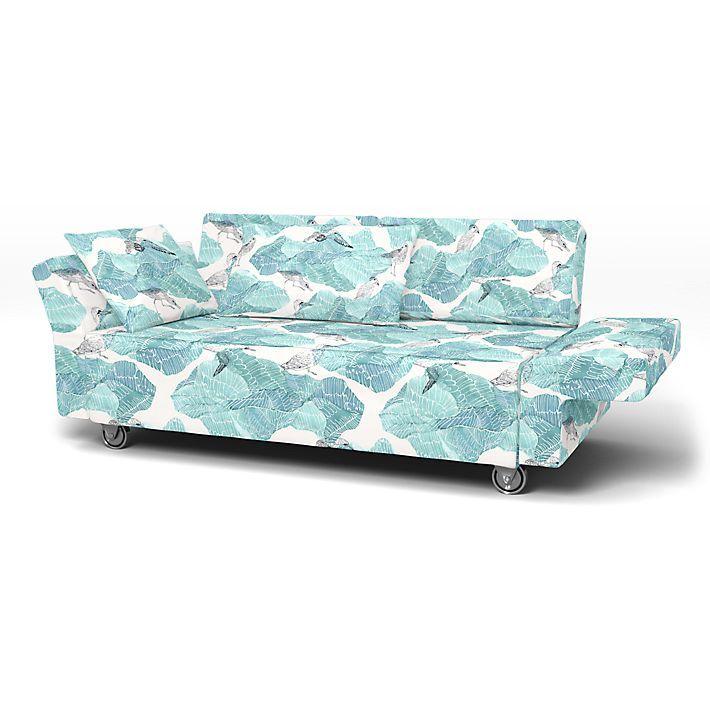 Falsterbo, Housses de canapé, 2 places, Regular Fit utiliser le tissu Flying on Ice Mineral Blue