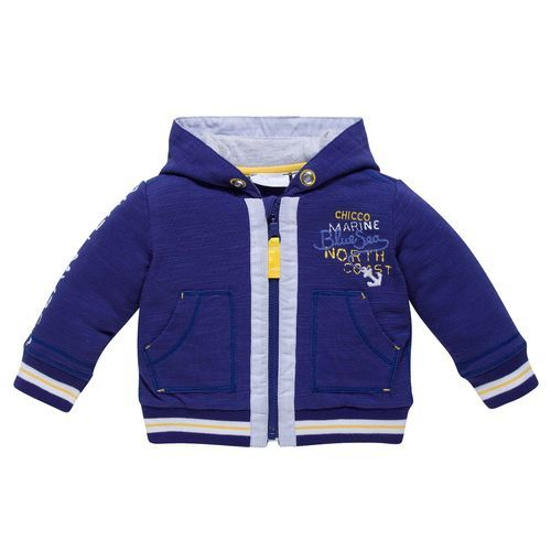 Make sure baby is ready for cooler weather with Chicco's Sporty Nautical Zip-up Cardigan