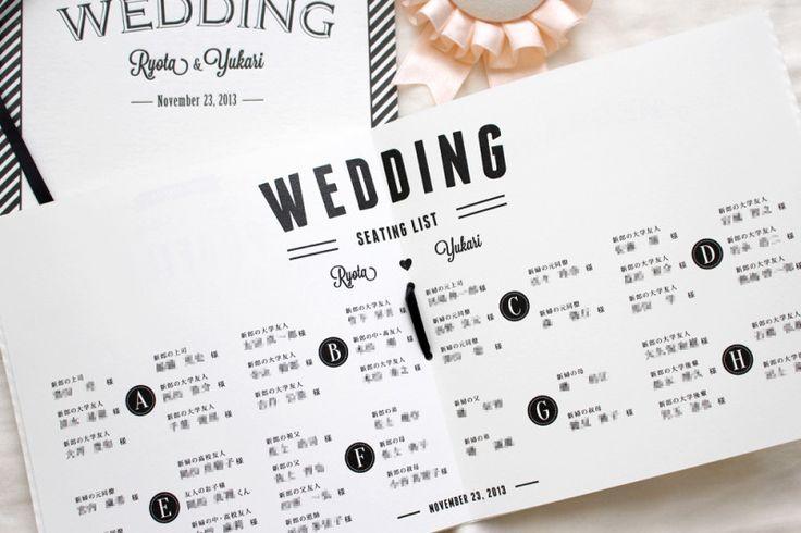 結婚式の席次表をレタープレス印刷で自作してみた┃Less is Beautiful