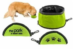 Portable Dog Water Bowl with Zipper