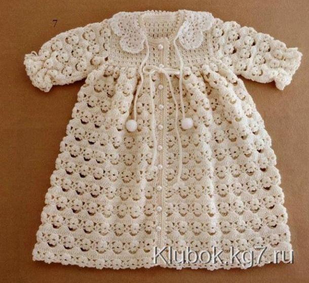 Вязаное крючком детское платье - Страна Мам