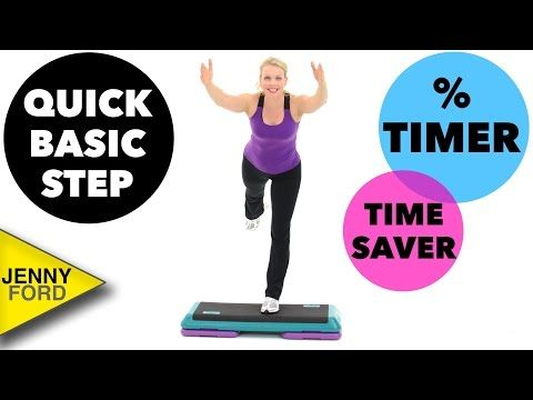 Basic Step Aerobics Workout - Quick  20 minutes - 2 Combos - Low or High Impact Options.