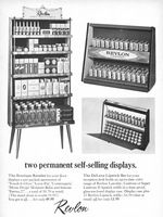 Revlon Product Displays 1963 Ad Picture