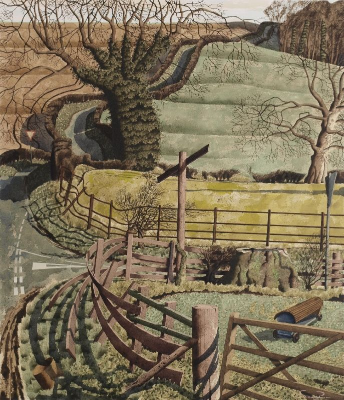 """Off the Beaten Track"" by Simon Palmer (watercolour, ink and gouache)"