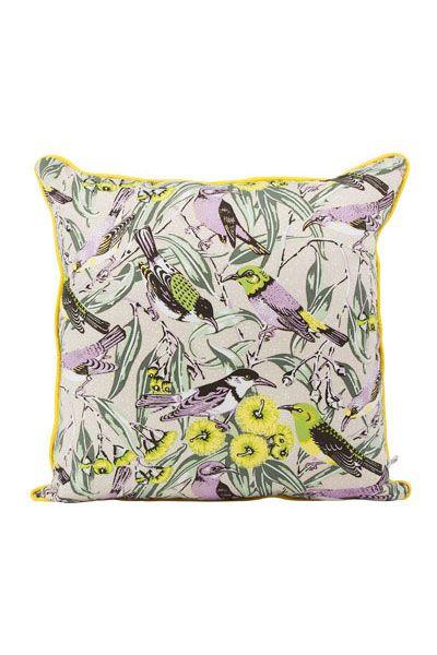 Utopia Goods 'Flowering Gum' cushion in beige.