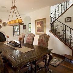 Vertical lighting for dining room - golden hue. Houzz.com
