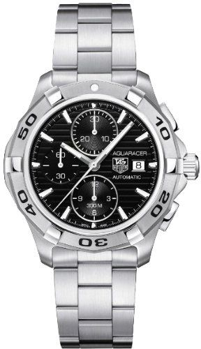 Tag Heuer Aquaracer Automatic Black Dial Chronograph Mens Watch CAP2110.BA0833 - List price: $3,100.00 Price: $2,145.00