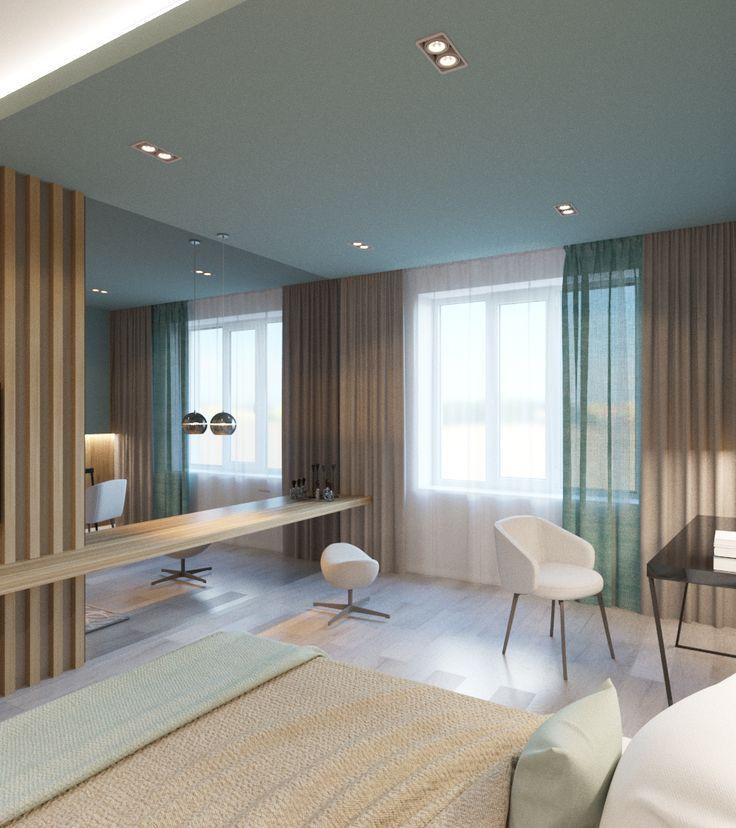 Деревянное изголовье, ТВ зона в спальне, квартира с элементами LOFT, спальня в современном стиле, кирпич в интерьере, дизайн-проект спальни, интерьер спальни, дизайн-проект удаленно, декор стены в изголовье кровати