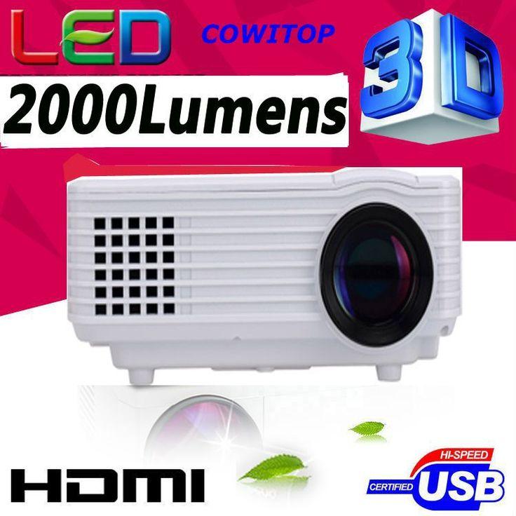 Full HD 1920x1080 проектор LED LCD 3D Домашний кинотеатр, 2000 люмен СВЕТОДИОДНЫЙ Проектор 50000 часов СВЕТОДИОДНЫЕ Для ПК смартфон планшетный ноутбук