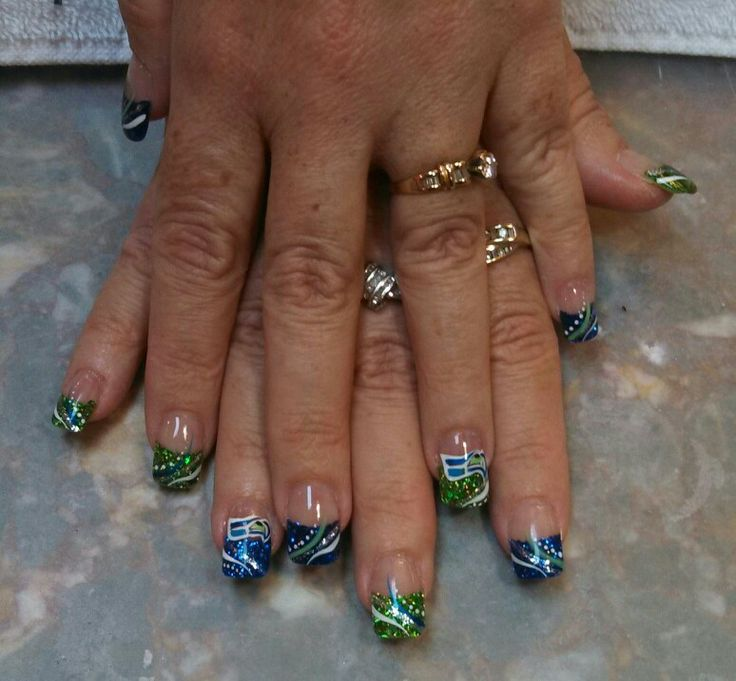 156 best Nail design images on Pinterest | Seahawks nails, Seattle ...