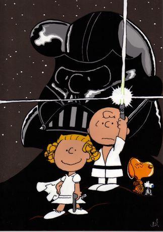 PEANUTS STAR WARS #Snoopy #StarWars i love this