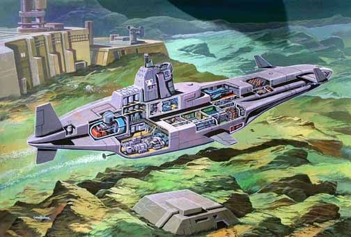Spectrum Clam submarine by Graham Bleathman.