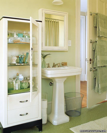 17 best images about vintage dental in modern decor on for Martha stewart bathroom designs