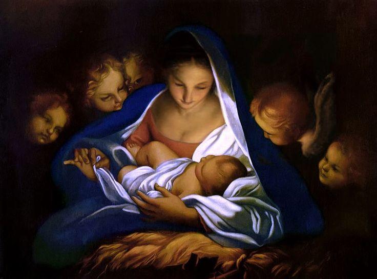 Karácsony készűl, emberek! Szépek és tiszták legyetek! Súroljátok föl lelketek, csillogtassátok kedvetek, legyetek ujra gyermekek hogy emberek lehessetek!   Wass Albert   Carlo Maratta (1625-1713): Nativity (Adoration of the Shepherds) (c.1650)