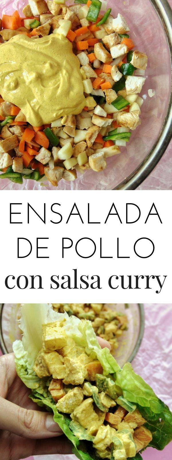 Ensalada de pollo con salsa curry | Salsa curry para ensaladas | Tasty details