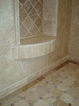 Cary bath remodel traditional travertine traditional for Bath remodel raleigh
