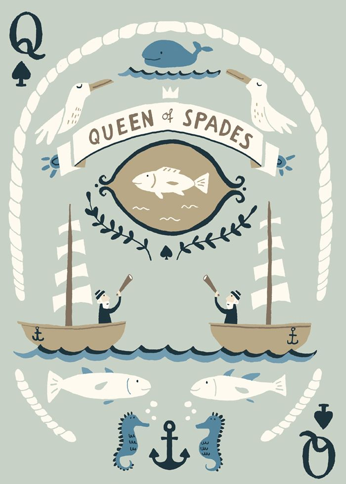 My playing card for the SCAD Atlanta Fish and Ships Deck.