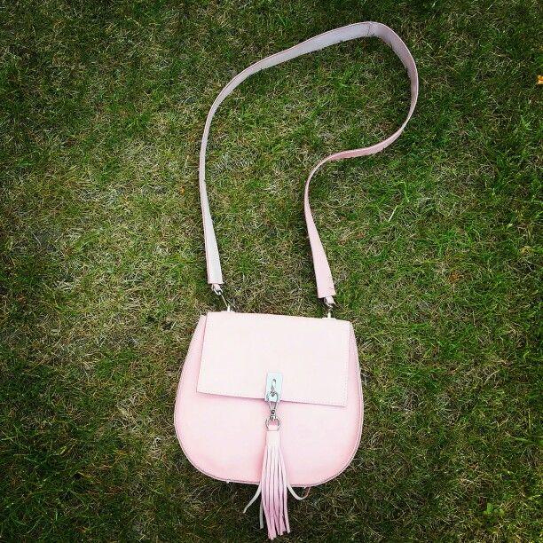 #pink #leatger #bag