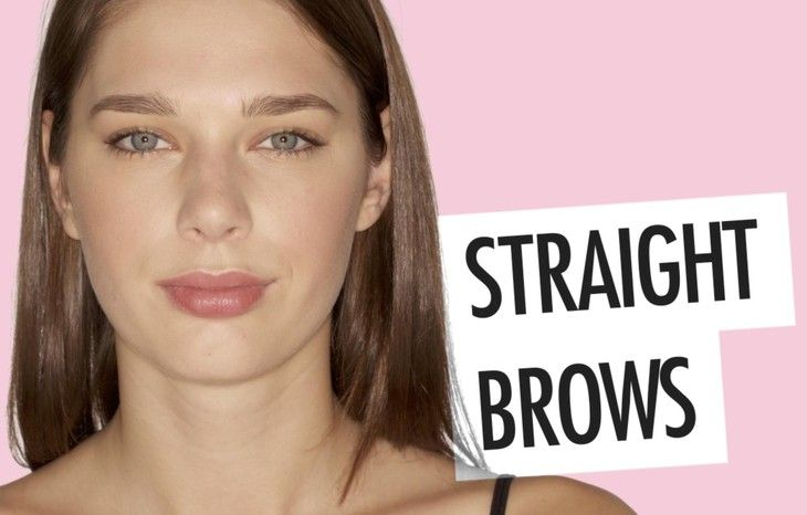 How to Fill in Straight Brows - How to Do Eyebrows Based on Shape