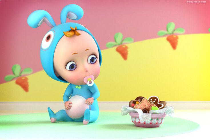 3d baby cartoon - yinxuan