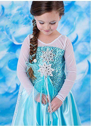 d guisement enfant costume robe elsa la reine des neiges m tkoofn