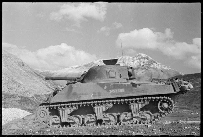 New Zealand army Sherman in Italy