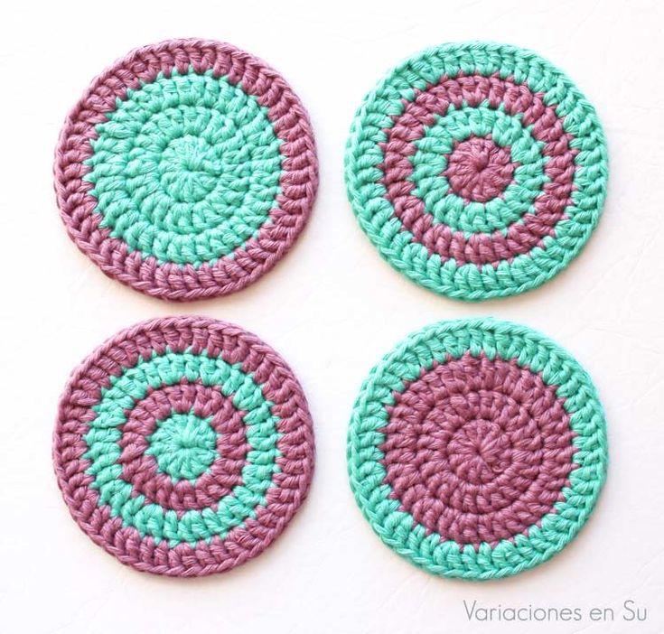 17 mejores ideas sobre posavasos de crochet en pinterest - Posavasos de ganchillo ...