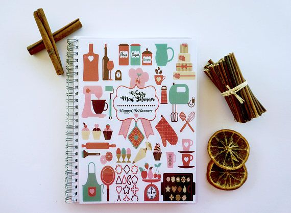 Weekly Meal Planner Personalized Planner gift for him / her