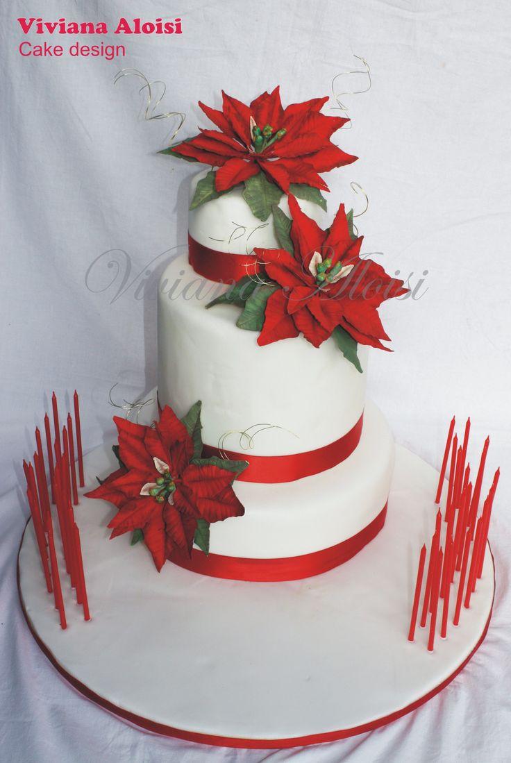 poinsettias cake, stelle di Natale
