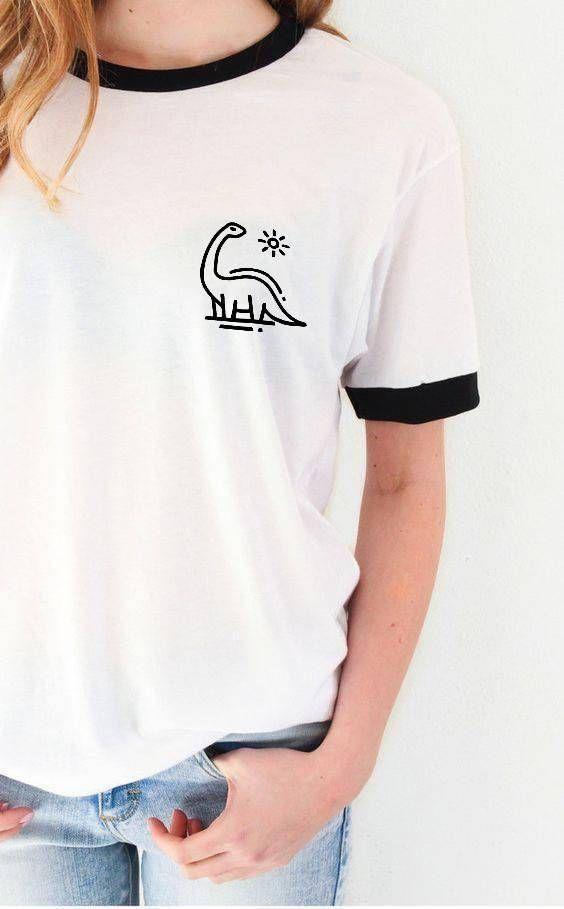 6ce4f12badc7 Dinosaur Pocket Print Ringer Shirt in 2019 | Wish list | Fashion, Dinosaur  shirt, Shirts
