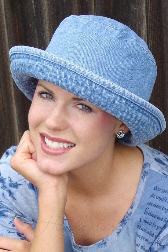 Denim Bucket Hat Bucket Hats For Women Cancer And