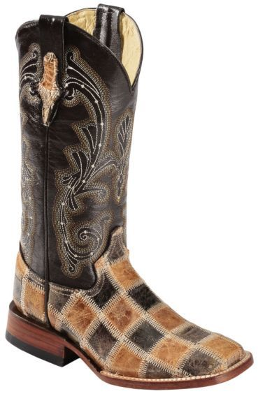 Ferrini Patchwork Cowgirl Boots - Square Toe - Sheplers