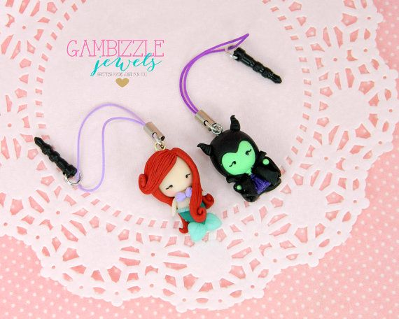Custom cell phone charm character cell phone by GambizzleJewels