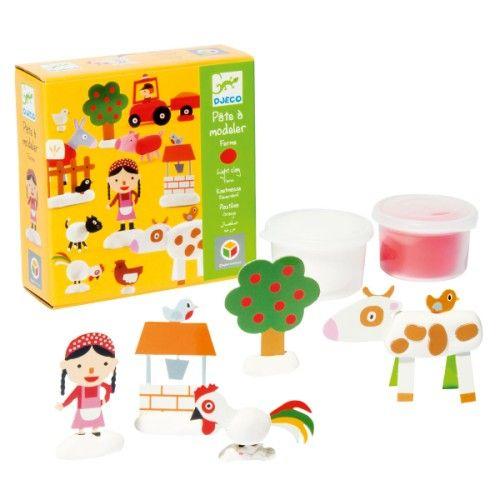 c1 kit de pâte à modeler, les enfants créent des personnages amusants sur le thème de la ferme.
