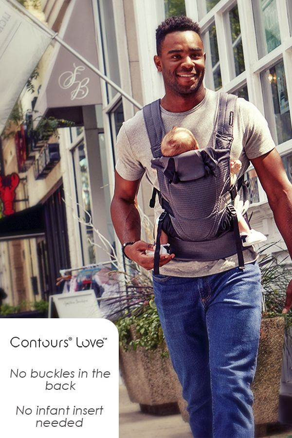 cb5fb5aba99 The Contours Love 3-in-1 Baby Carrier offers soft and easy-to-use support  for you and baby! With no buckles in the back and no infant inserts