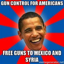 Обама - контроль над огнестрельным оружием для американцев свободных орудий в Мексику и Сирию