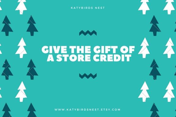 Gift Certificate, Christmas Gift Certificate, Birthday Gift Certificate, Email Gift Card, Gift Card, Store Credit, Christmas Gift Card by KatybirdsNest on Etsy