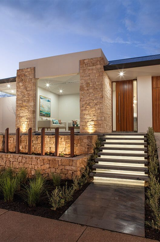 Contemporary single family house located in Craigburn Farm, Australia,  designed by Lares Homes.