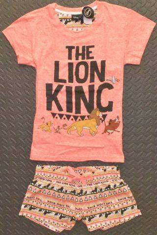 PRIMARK Disney Lion King PJ Set T Shirt & Shorts Simba PYJAMAS UK Sizes 6-20 NEW - Click. Buy. Love. - 1
