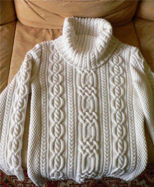 Нежные араны- свитер спицами от Rowan. Обсуждение на LiveInternet - Российский Сервис Онлайн-Дневников