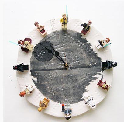 DIY LEGO Star Wars clock instructions. Love this!