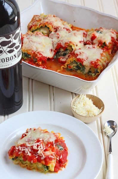 Spinach Lasagna Roll-ups | Dessert for Two