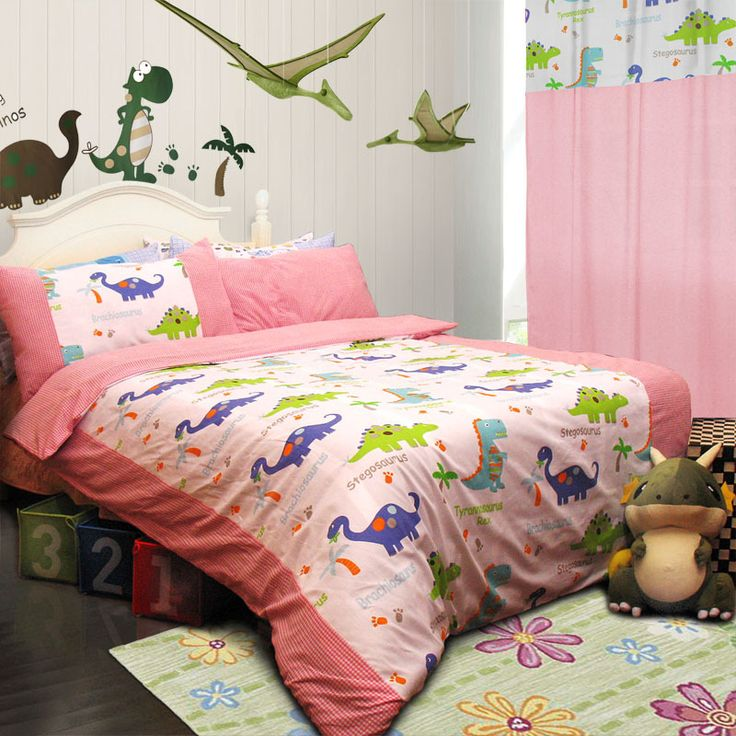 Bedroom Decor Styles Toddler Girl Bedroom Paint Ideas Cool Bedroom Wall Art Ideas Bunk Bed Bedroom Sets: Dinosaur Homes Pink Dinosaur Bedding Set Wow Colorful Mart