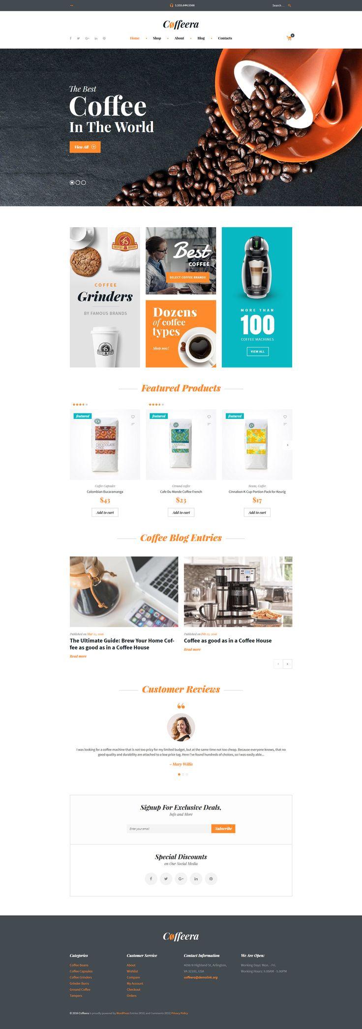 Coffee Shop WooCommerce Theme 306 best WordPress