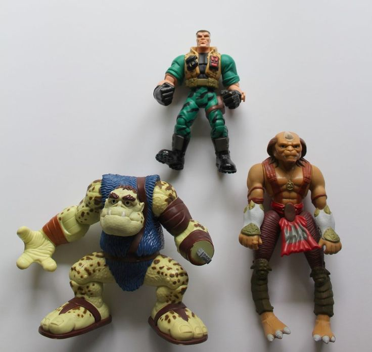 Vintage Small Soldiers Archer & Slamfist Gorgonite, Chip Hazard Action Figures #Hasbro