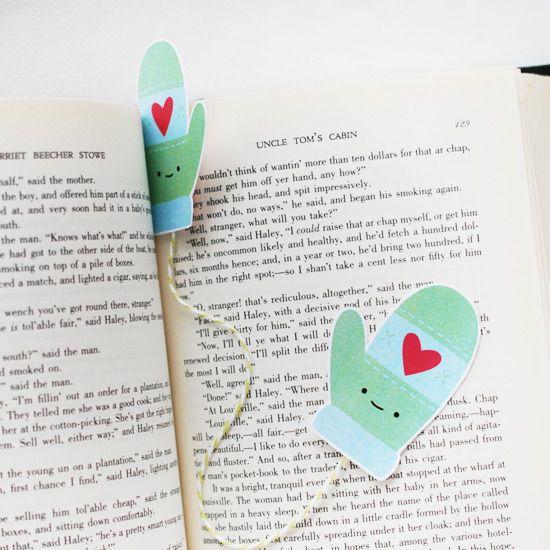 Printable Mitten Bookmark