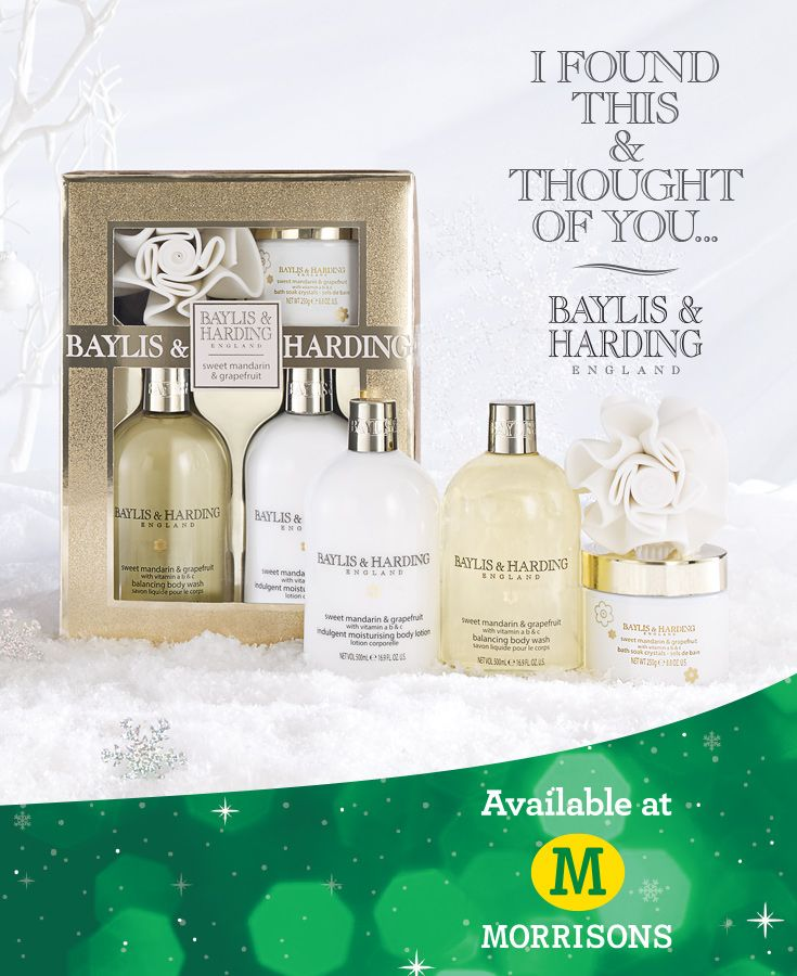 Our best-selling fragrance Sweet Mandarin & Grapefruit is available in stunning gift sets that your family and friends would love. You'll find it in-store and online at Morrisons: http://www.baylisandharding.com/morrisons